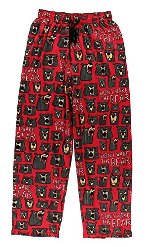 Don't Wake The Bear Men's Pajama Pants Bottom by LazyOne | Pajama Bottom for Men (Large)