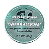 GRIFFIN Saddle Soap - Leather Cleaner, Leather Conditioner and Leather Softener - Shoes, Boots, Handbags and Leather Goods (2.8 oz) - Made in USA