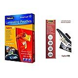 Fellowes ImageLast Pack 100 fundas de plastificar, formato A5, 125 micras + 53067 Pack de 100 fundas para plastificar, formato 65 x 95 mm