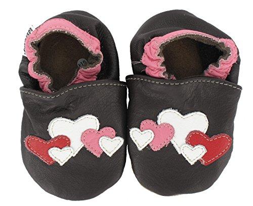HOBEA-Germany Chaussures bébé Fille, Chaussures de Taille:26/27 (30-36 Monate), modèle Chaussures:cœur