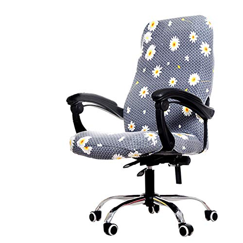 Deisy Dee Computer Office Chair Covers for Stretch Rotating Mid Back Chair Slipcovers Cover ONLY Chair Covers C162 (Daisy)