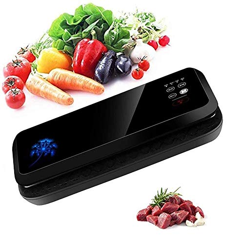 CMmin Household Vacuum Sealer-Automatic Vacuum Air Sealing Machine System,for Dry,Moist,Fresh Foods Storage,Food Preservation Saver(Black)