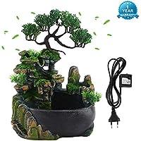 Humidificador de decoración para el hogar, Fuente de Escritorio con Cascada Cascada de meditación Zen