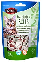 Premio Fish Chicken Rolls., complementary food for cats (snack), in a resealable bag, Container/Weight: 50 g.