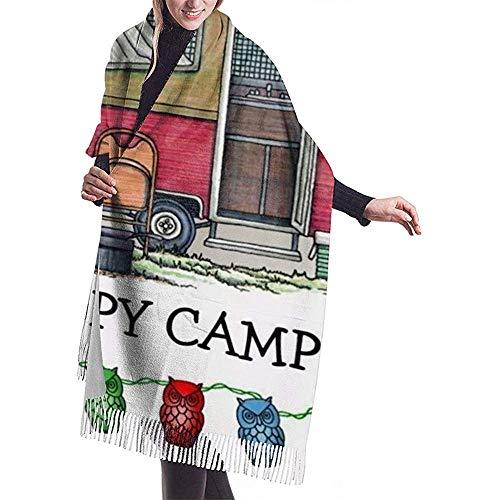 LisaArticles herensjas, leuke RV-vintage pop-up camping reis-aanhanger aantrekkelijke unisex sjaals voor motorrijden, skivissen