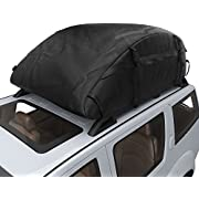 Oanon 20 Cubic Car Cargo Roof Bag - Waterproof Duty Car Roof Top Carrier - Easy to Install Soft Rooftop Luggage Carriers with Wide Straps 20 Cubic Feet