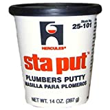 Oatey 25101 Hercules Sta Put 14-Ounce Plumbers Putty