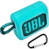 Silikonhülle Tasche für JBL GO 3 kleine Bluetooth Box Travel Gel Weiche Haut, wasserdichter Gummi-Tragetasche - Grün