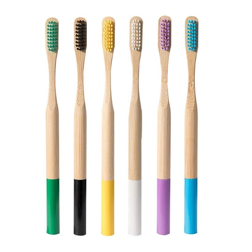 パキスタン国家ダウンタウンHealifty 歯ブラシ環境に優しい竹歯ブラシ6pcs