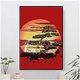 XuFan Bonsai árbol Karate Dojo Lienzo Pintura Carteles e Impresiones para dormitorios decoración del hogar imagen-20X28 Pulgadas sin Marco
