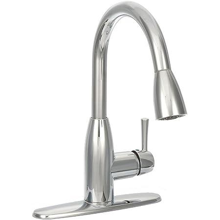 American Standard Fairbury Single Handle Pull Down Sprayer Kitchen Faucet In Chrome Amazon Com