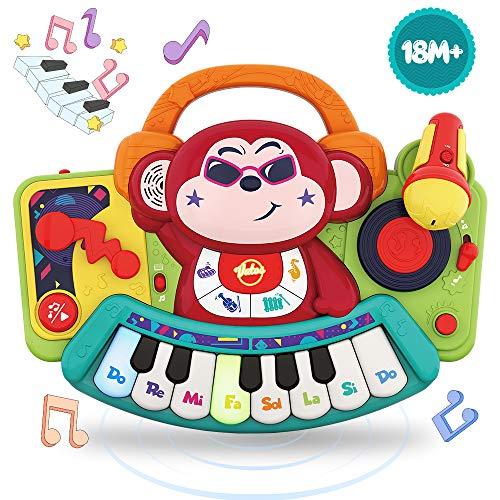 VATOS Baby Klavier Musikspielzeug,Affen Klavier Musikinstrument,Aktivität Lernen und Entwicklung Frühpädagogisches Spielzeug mit Mikrofon für Mädchen/Jungen/Kinder im Alter von 1 2 3 4 5 Jahren