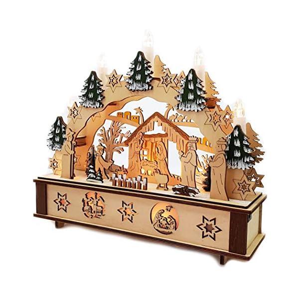 Wichtelstube-Kollektion-LED-Schwibbogen-Jesu-Geburt-Leuchter-Weihnachten-Christi-Geburt-Schwippbogen-mit-Timer