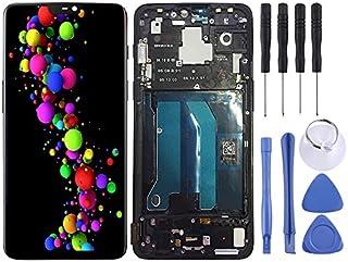 WUCM OnePlus 6のフレームとLCDスクリーンとデジタイザフル・アセンブリ(ブラック) DIY (Color : Black)