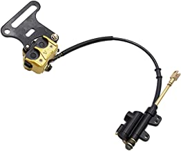 PRO BAT Rear Disc Hydraulic Brake Assembly Caliper Master Cylinder With Pad For 70cc 110cc 125cc 140cc 150cc PIT PRO Dirt Bike, Golden