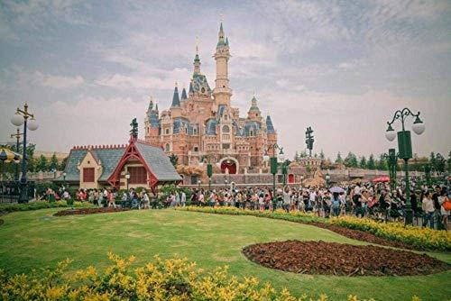 Shanghai Disneyland Puzzles, 200 Piezas, Juguetes educativos, Regalo, decoración del hogar, Materiales reciclables de Primera Calidad
