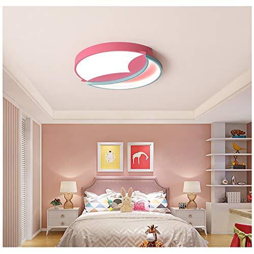 Highlight White Light Moderne ronde verlichting LED-plafondlamp-ruimte slaapkamer lamp sfeervol creatief huis woonkamer eetkamer lamp (Pink) 56cm