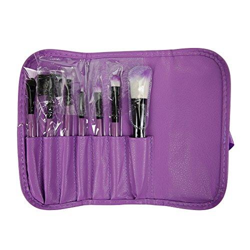Chouette 7Pcs Beauté Maquillage Pinceau de Maquillage Sac de Rangement (Violet)