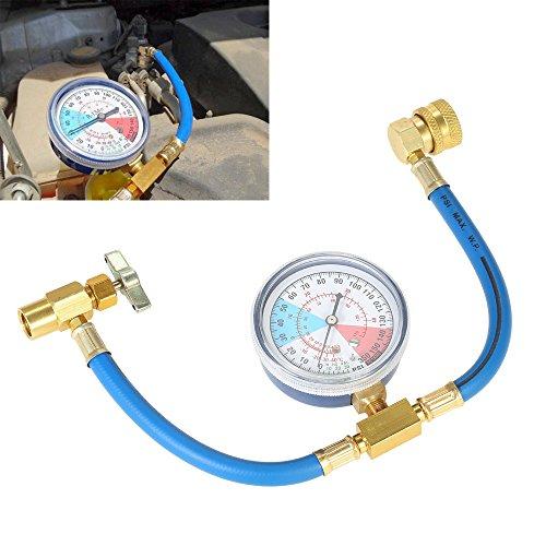 Vislone AC R134A Car Auto Air Conditioning Refrigerant Recharge Measuring Hose Gauge Kit