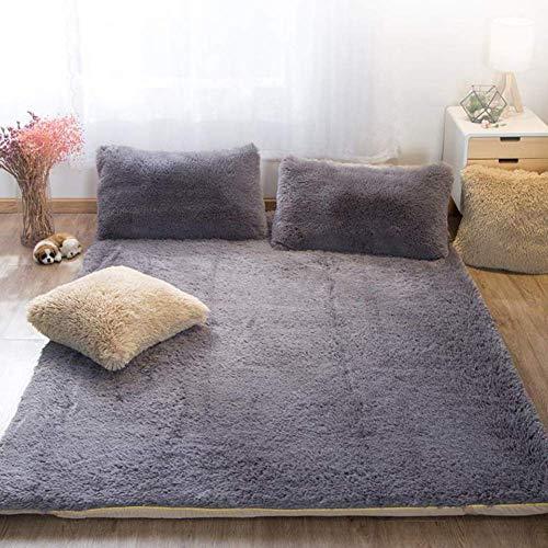 ZXYY matrasbeschermer wasbaar Futon Tatami Tatami om te slapen warm vulkaan-fluweel matrasbeschermer onderlegger voor studenten poeder leer 120 x 200 cm (47 x 79 inch)