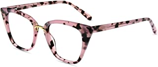 Firmoo Occhiali Luce Blu Gatto Donna Bloccanti per il Mal di Testa UV400 Antiriflesso, Occhiali Luce Blu Cat-eye per Compu...