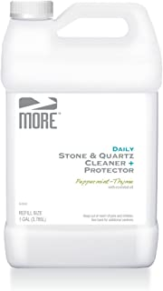 MORE Stone & Quartz Countertop Cleaner Refill | Natural Cleaner + Protector - Water Based Formula for Marble Granite Slate Tiles, Bathrooms, Kitchen Countertops [Gallon / 3.785L]