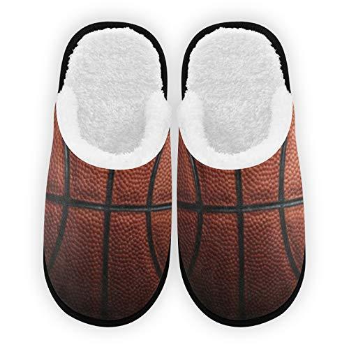 Zapatillas de baloncesto Texure para hombre y mujer, forro de felpa, cómodas, cálidas, de forro polar, para interiores y exteriores, para spa