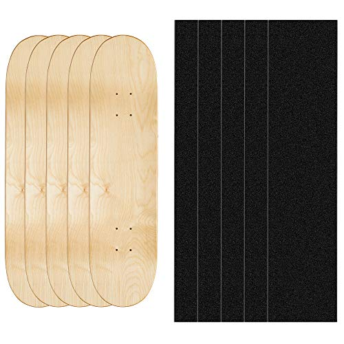 AXDT Maple Skateboard Decks Double Tail Skateboard Light Decks Free Skateboard Grip Tape