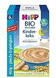 Hipp Bio-Milchbreie ohne Zuckerzusatz-Vorratspackung, ab 6. Monat, Gute-Nacht-Brei Kinderkeks, 4er Pack (4 x 450 g)