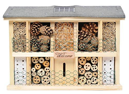 Luxus-Insektenhotels 22629e Solar - Insektenhaus Landsonne mit Solarzelle, Kippschalter und 3 LEDs Plus Lichtsensor