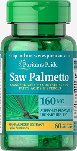 Puritans Pride Saw Palmetto Standardized Extract 160 mg Softgels, 60 Count