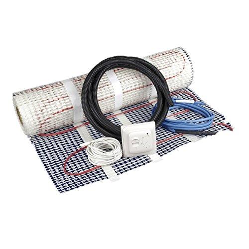 Philex Heating - Kit de calefacción eléctrica bajo suelo, de 2 m², incluye termostato, blanco, 45003R