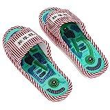 Zapatillas de masaje de pies, Acupoint Terapia magnética Zapatillas de masaje Shiatsu Cuidado de pies sanos Masajeador Zapatos con imán para aliviar la fatiga y el dolor en la planta del pie(#2)