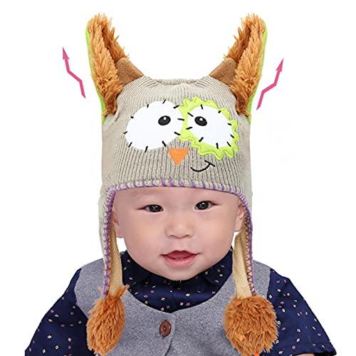 IDWT Divertido Sombrero de Juguete, Tejido de Lana, Lindo Sombrero para niños Mayores de un año y Medio para decoración y Regalo de niños(Gris)