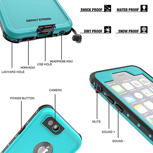 ImpactStrong iPhone 6 Plus / 6s Plus Waterproof Case [Fingerprint ID Compatible] Slim Full Body Protection for Apple iPhone 6 Plus
