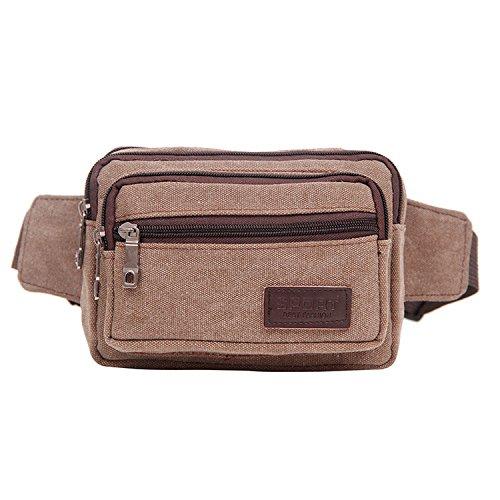 ZYT Vintage toile poches grâce à des hommes et des femmes sac à main fashion polyvalent sac à dos . brown