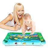 Wassermatte Baby Aufblasbare Wasserspielmatte Tastmatte Bauchzeit für Säuglinge und Kleinkinder, Spielzeug für Baby, Innen und Außen (Dinosaur)