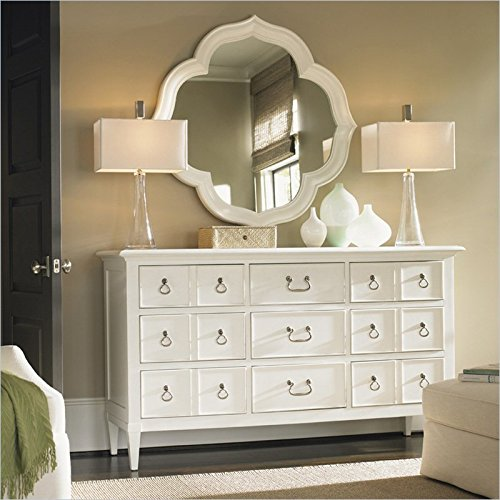Check Out This Tommy Bahama Home Ivory Key Mirror and Dresser Set in White