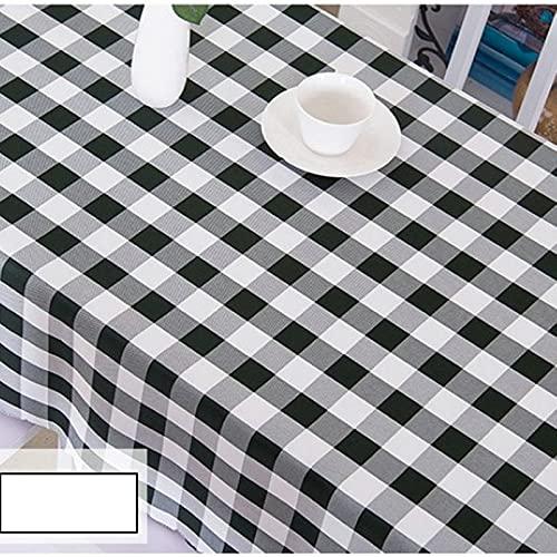 Mantel redondo bordado decoración elegante algodón lino mantel con borlas, a prueba de polvo, lavable, cubierta de mesa de cocina para mesa de comedor, redondo 300 cm