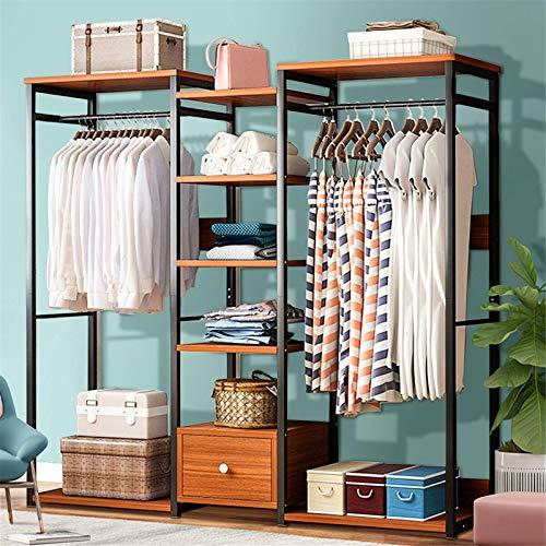 TEET Perchero de madera para ropa, para armario, organizador de ropa, percha de ropa, estante seco, para casa, oficina, interior