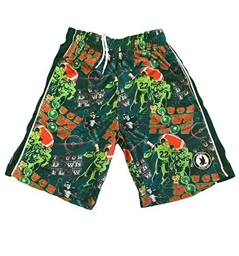 Flow Society Big Touchdown Boys Athletic Shorts - Boys Football Shorts Green