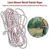 Cuerda de arranque para cortacésped de 3 metros x 3,5 mm, herramienta de jardín...