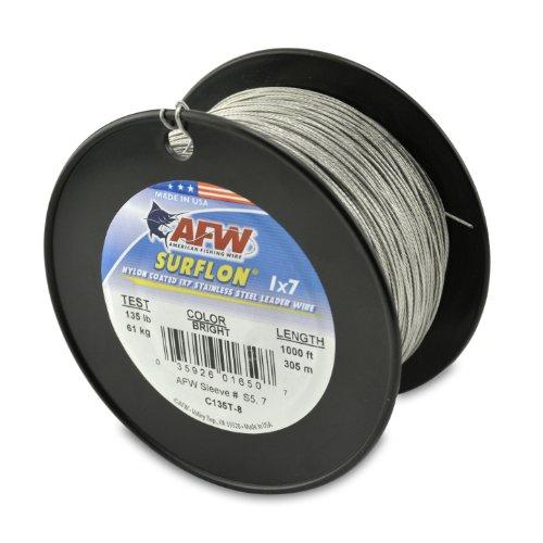 American Fishing Wire Surflon Nylonbeschichteter 1x7 Edelstahlvorfachdraht, helle Farbe, 27,2 kg Test, 3000 m
