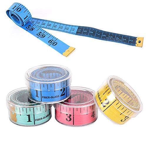Coner 150cm lichaam meten liniaal naaien op maat meetlint zachte platte naaien liniaal meter naaien meetlint, een 1 stuks willekeurig, 1,5 m
