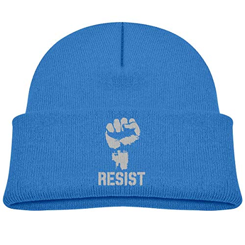 Voxpkrs Resist Political Anti Protest Power Baby Infant Toddler Winter Warm Beanies Hat Cute Kids Thick Stretchy Cap Cool 36880