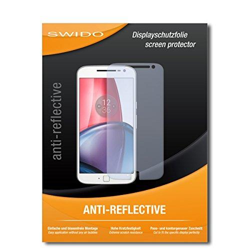 SWIDO Schutzfolie für Motorola Moto G4 Plus [2 Stück] Anti-Reflex MATT Entspiegelnd, Hoher Festigkeitgrad, Schutz vor Kratzer/Bildschirmschutz, Bildschirmschutzfolie, Panzerglas-Folie