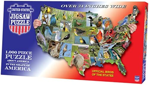 United States-State Birds Jigsaw Puzzle 1000 Pieces 7.8 X15.8  TDC1778