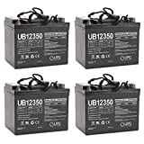 Universal Power Group UB12350 12V 35AH Internal Thread Battery for Pro Rider Golf Trolley - 4 Pack
