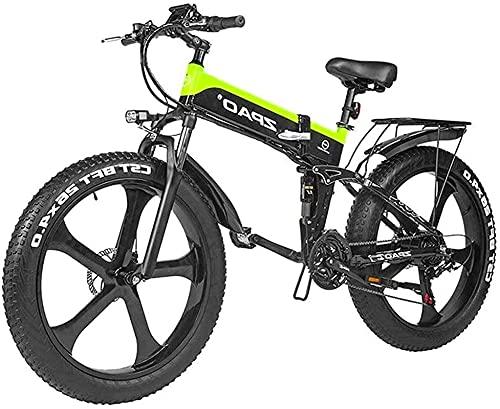 Bici elettriche Bicicletta elettrica da 26 pollici grasso pneumatico elettrico 48 V 1000W Motor Motor Snow Bicycle elettrico con montagna elettrica pedale bicicletta a pedale Assist batteria al litio