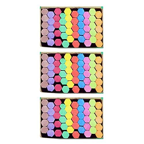 STOBOK 3 Cajas de Tiza de Color Tiza sin Polvo No Tóxica Tiza de Enseñanza Pizarra Tizas para La Oficina de La Escuela del Salón de Clases